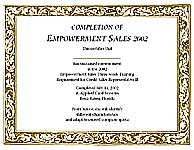Horizontal Certificate Sample I