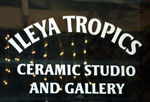 Ileya Tropics inside door sign