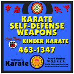 Tollow's Karate - 8' Square Outdoor Sign