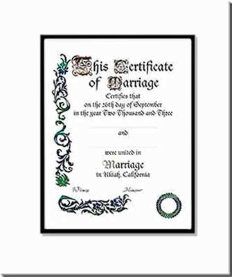 wedding certificates marriage certificates calligraphy custom made